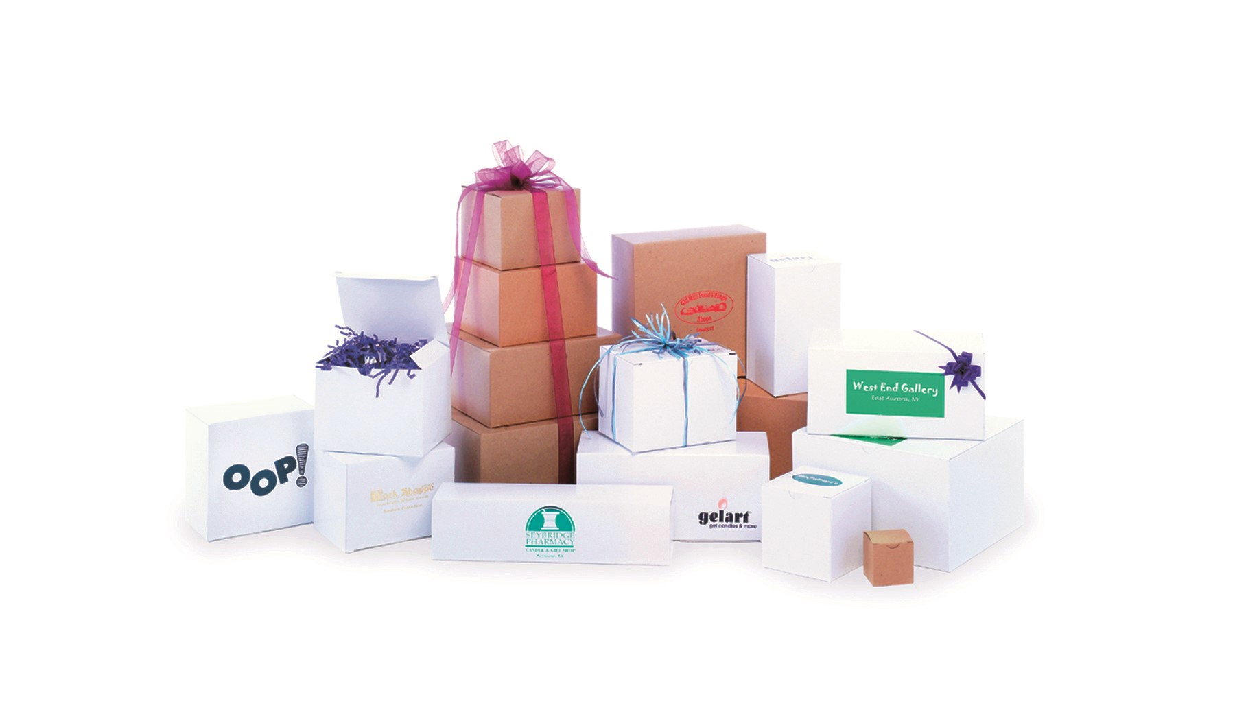 White One Piece Giftware Boxes